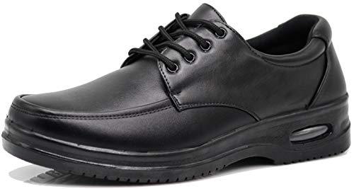 - AL Mens Black Oil Resistant Professional Industrial Anti Slip Restaurant Rubber Air Sole Working Comfy Shoes (8.5 D(M) US, Lace Up (02))