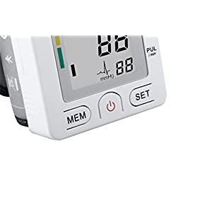 Fam-health Automatic Wrist Blood Pressure Monitor FDA Approved with Portable Case, Two User Modes, Adjustable Wrist Cuff,IHB Indicator and 90 Memory Recall [2018 NEW VERSION] White