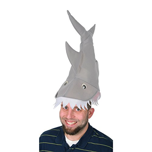 Plush Shark Hat Party Accessory (1 count) ()