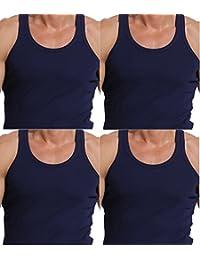 Godsen Men's 4 Pack A-Shirt Tank Top Sleeveles Undershirts