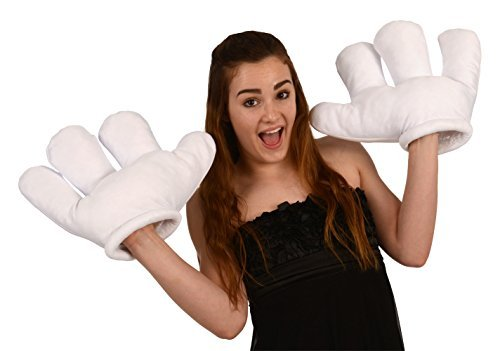 Kangaroo Jumbo Cartoon Hands, White Gloves -