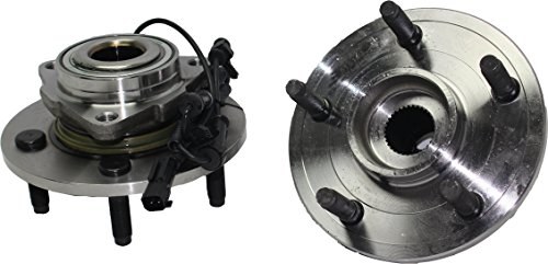 Brand New (Both) Front Wheel Hub and Bearing Assembly 2006-08 Dodge Ram 1500 5 Bolt w/ Front Speed Sensor Rear Wheel ABS Brakes