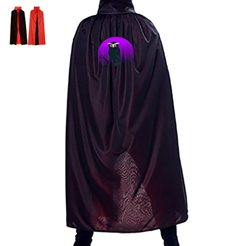 Hooters Costumes Halloween (Halloween Cape Wicked Owl Unisex Hooded Costume Wizard Cloak)