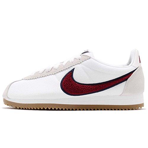 (Nike Women's Classic Cortez Trainers (10.5 B(M) US, White/Red Crush-Gum Light Brown))