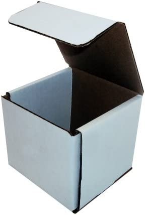 100-7 1//8 x 5 x 3 White Corrugated Shipping Mailer Packing Box Boxes