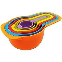 Kit 06 Medidores De Cozinha Encaixáveis - Xícara Colher Copo
