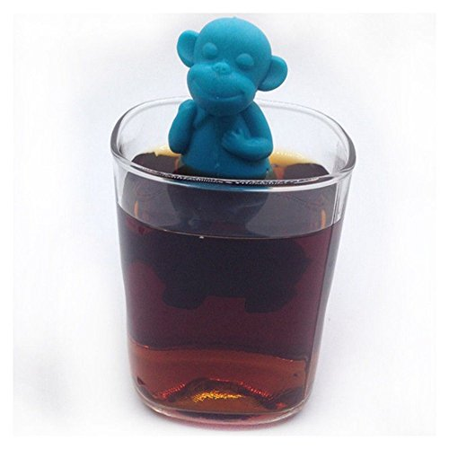 OPPOHERE Silicone Monkey Shape Mug Cup Loose Leaf Herb Spiece Filter Tea Infuser