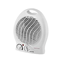 Warmlite WL44002 Thermo Fan Heater with 2 Heat Settings and Overheat Protection, 2000 W, White