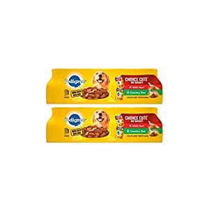 Pedigree Choice Cuts In Gravy With Beef And Country Stew Adult Canned Wet Dog Food Variety Pack, (24) 13.2 Oz. Cans 87