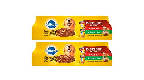 Pedigree Choice Cuts In Gravy With Beef And Country Stew Adult Canned Wet Dog...
