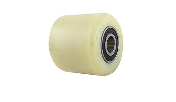 eDealMax a11102700ux0052 Carro de Plataforma de la rueda 80 mm Diámetro 70 mm Longitud rueda de Nylon Beige por paletas de camiones: Amazon.com: Industrial ...