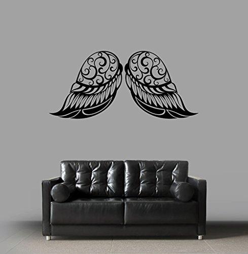 ik1823 Wall Decal Sticker wings of a bird monogram room Bedroom Bird Monogram
