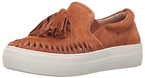 J Slides JSlides Damen Aztec Fashion Sneaker Tan Wildleder