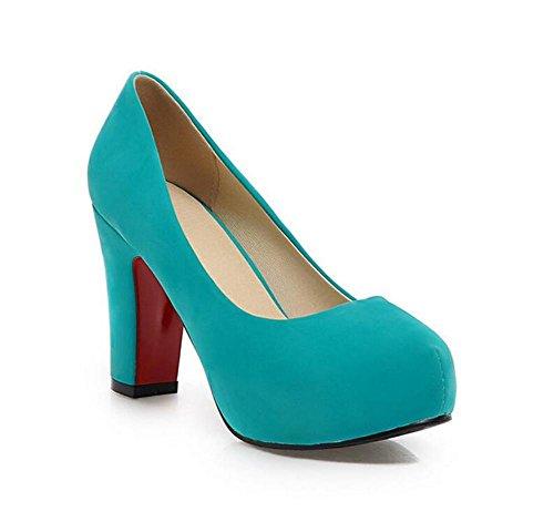 Zapatos con Dulce de XIE Blue Tacón Impermeable Redonda Redonda de 36 Alto Zapatos Gruesa GREEN 37 Boca Boca Plataforma Zapatos rZqZavX