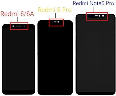 soliocial Asamblea Pantalla LCD Pantalla T/áctil Vidrio para Xiaomi Redmi Note 6 Pro//Redmi Note 6pro Negro