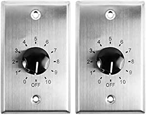 2 Rockville VOL70100 100w 70v Stainless Wall Volume Control Zone Controllers