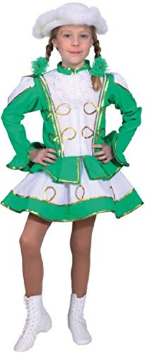Band Parade (Girls Deluxe Green Gold Carnival Dance Troupe Marching Band Majorette Theatre Show Parade Celebration Fancy Dress Costume Outfit (12-14 Years (164cm)))
