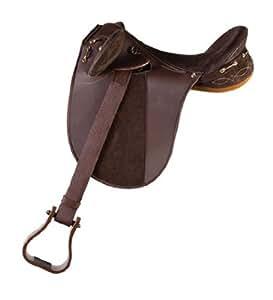 Down Under Saddle Supply Kimberley Synthetic Endurance Medium Saddle, Brown, 16-Inch
