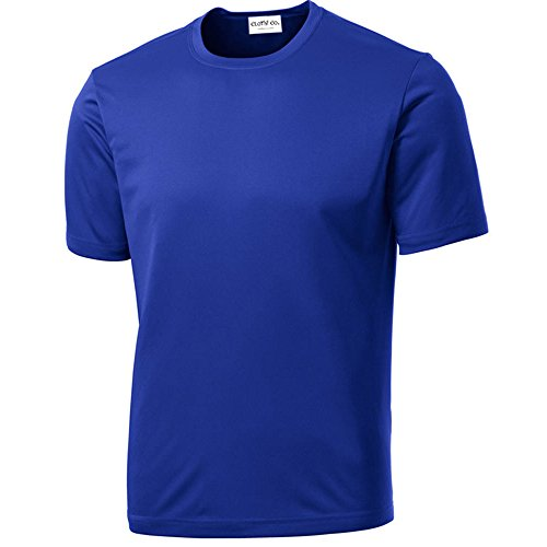 Clothe Co. Mens Big & Tall Short Sleeve Moisture Wicking Athletic T-Shirt, XLT, True Royal