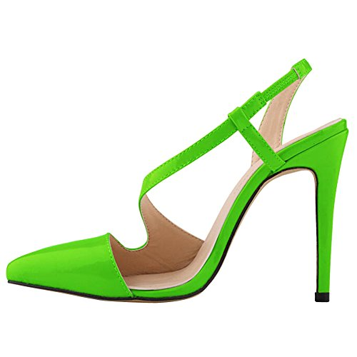 QP Women's Skin High Shoe Green Color Snake Candy Heeled Pump Sandals Dress fereshte OFqPwdAP