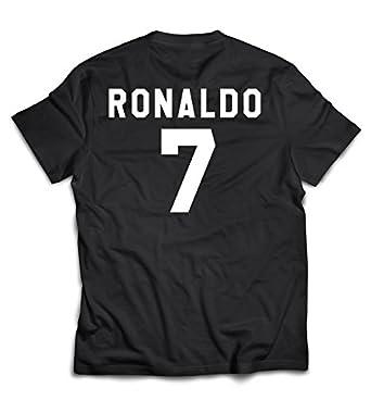 innovative design 5b14d 085a5 DAB Apparels Men's Black Colour Half Sleeve FIFA Ronaldo Round Neck Cotton  T-Shirt