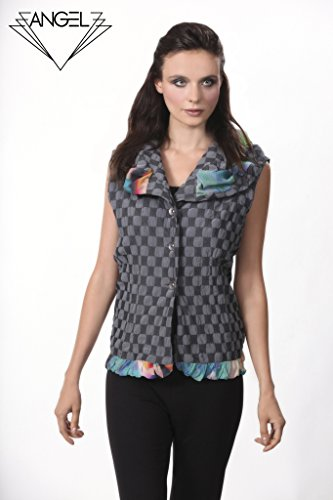 Angel Apparel Checkerboard Ruffled Vest by Angel Apparel