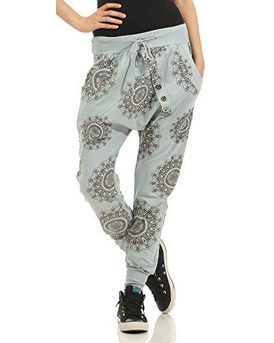 Pantaloni Boyfriend sportivi Grigio da unica Pantaloni cotone Casual jogging 40 pantaloni larghi in moda Chiaro 44 Taglia Pantaloni donna alla ZARMEXX larghi da sportivi q6BfO6x