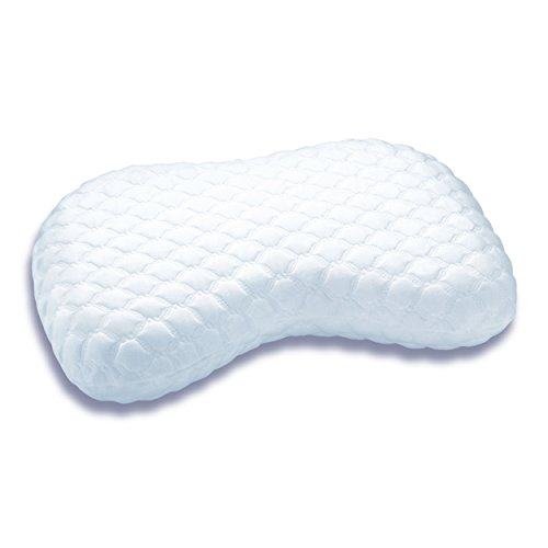 Cover Neck Position - Sleep Innovations Versacurve Multi-Position Memory Foam Pillow with Quilted Cover, Made in The USA with a 5-Year Warranty