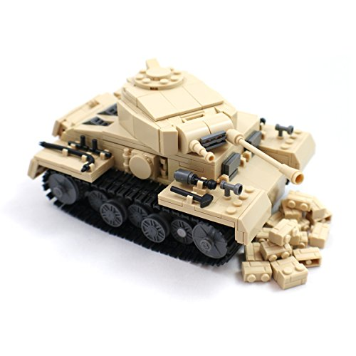 [German Army Medium Tank - Panzer III Military Building Block Model] (German Army Tank)