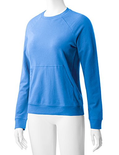 Regna X Women's Long Sleeve Crewneck Cotton Pullover Hooded Sweatshirts for Women by Regna X (Image #3)