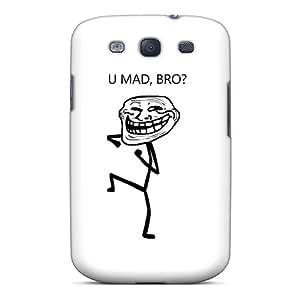 AMY KS Galaxy S3 Hybrid Tpu Case Cover Silicon Bumper U Mad Bro Troll