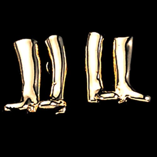 Exselle Gold Plate Riding Boot Earrings