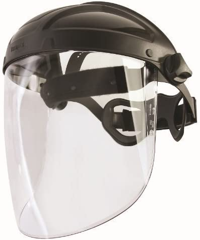 HONEYWELL Turboshield Profi - Protector facial con visera y postaje de cabeza