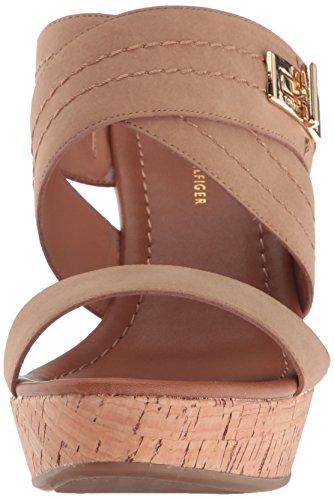 US Tommy Canella Wedge 6 Women's Tan Sandal Hilfiger Mili M 8qSv8