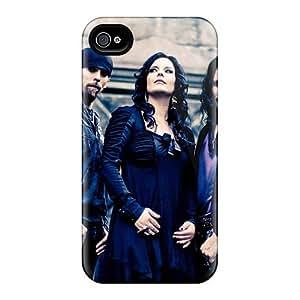 JonBradica Iphone 4/4s Anti-Scratch Hard Phone Cases Custom Attractive Nightwish Band Pictures [JWT14800DSQK]