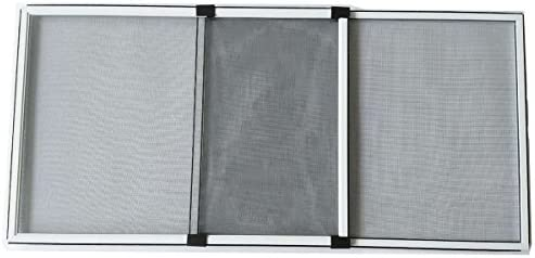 Flyzzz Adjustable Sliding Window Screen, Aluminum Frame Anti Mosquito  Window Screen for Rolling Doors and Windows (19 68 Inches High By 28-52  Inches