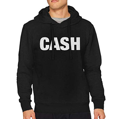 Sbbiegen886wo Mens Johnny Cash Cash Particular Hoodies Hooded Sweatshirt S Black -
