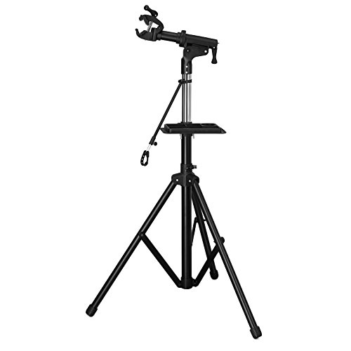 SONGMICS Improved Bike Repair Stand with Aluminum Alloy Arm, Large Tool Tray, Full Features Stronger & Durable, Portable, Compact USBR03B Review