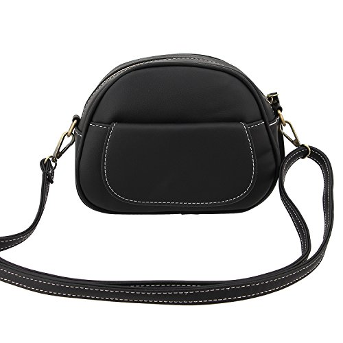 Women Pack Shoulder Candice Waist PU Crossbody Fanny Black Bag Bag Bag jb00326 Handbag Purse Bum Leather Bag Pack Waist dwvIxrqv