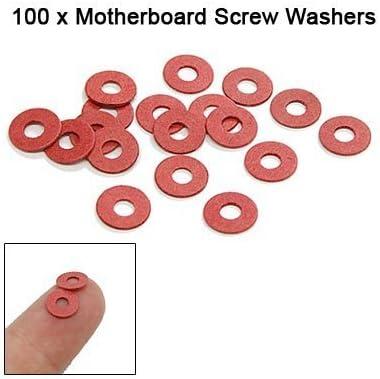 BoMiVa IMC New Sale 100 Pcs Practical Red Motherboard Screw Insulating Fiber Washers