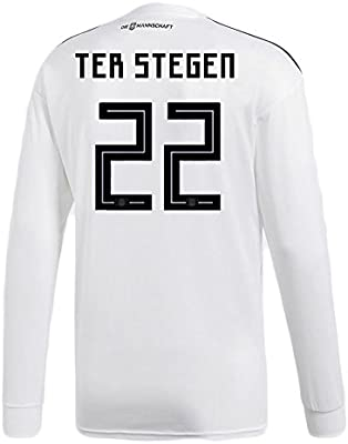 fd8adafd6 adidas TER STEGEN  22 Germany Home Soccer Long Sleeve Stadium Jersey World  Cup Russia 2018