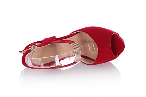 Adee Rain Toe Girls Red Peep Sandals Frosted Solid rqvrtw