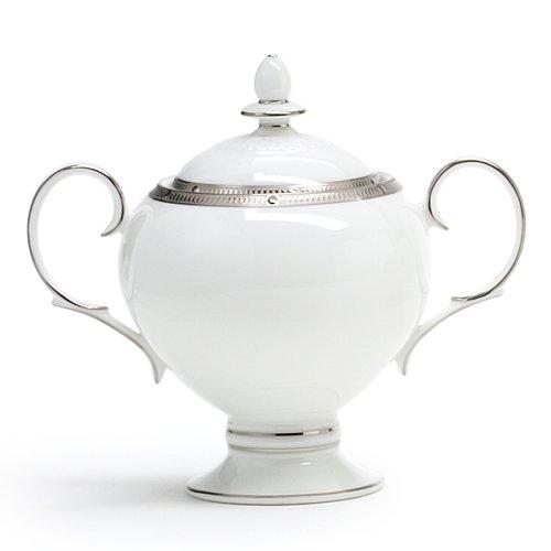 Noritake Rochelle Platinum Sugar Bowl with Cover, 9-ounces