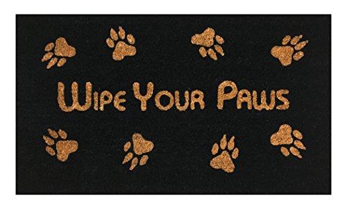 Wipe Your Paws Coir Doormat by Castle Mats, Size 18 x 30 inc