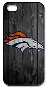 Icasepersonalized Personalized Protective Case For Samsung Note 4 Cover NFL Denver Broncos in Wood Background