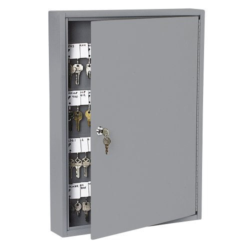 PM Company SecurIT 100 Hook Steel Key Cabinet, 17 3/8-Inches x 3 1/8-Inches x 22 3/8-Inches, Gray, 1/Carton (04984)