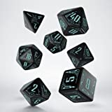 Q Workshop QWOGAL67 Galactic Dice Set Board Game, Green/Black