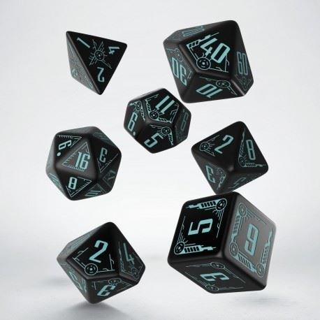 Q Workshop QWOGAL67 Galactic Dice Set Board Game, Green/Black by Q Workshop