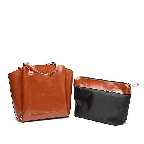 Shopping Coffee Bags Commute Capacità Top Tracolla Viaggio Pu black Per Donne S Tote Soft Lavoro A Le Cartelle Di Grande Borsa Shirley In Pelle 4tgTqxf