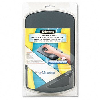 Fellowes® Microban® Wrist Support REST,WRIST/MSPD,GEL,GPH 2514500 (Pack - 9175101 Gel